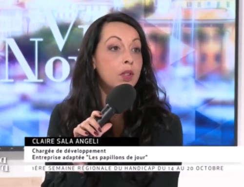 Claire Sala Angeli sur le plateau de France 3 Corse ViaStella