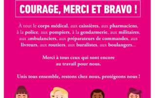 Courage, merci et bravo