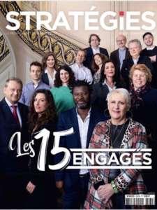 Couverture magazine strategies les 15 engagés